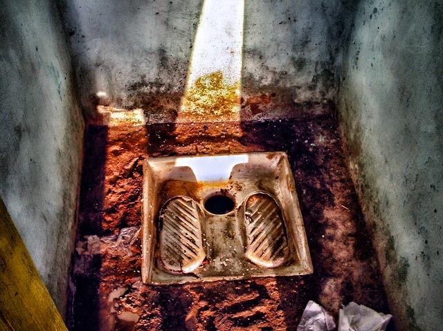 geur van een vieze wc